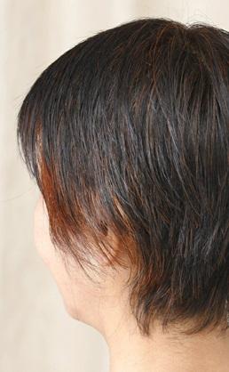 ヘナ:黒髪の仕上がり